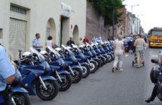 Motorky policistů